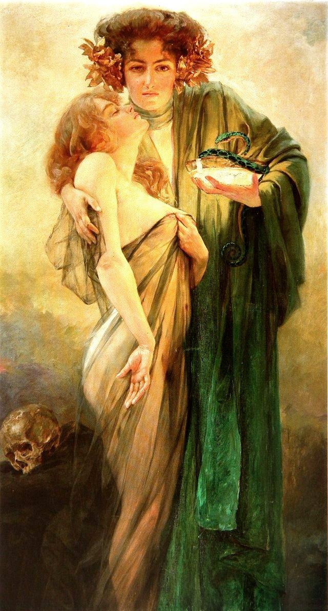 allegory of medicine robert auer 1914