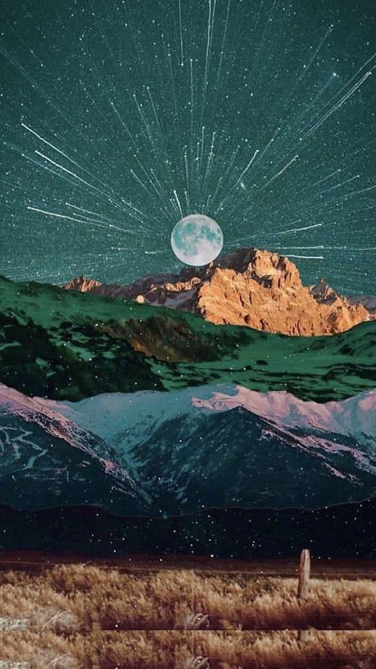 aesthetic & shit — mountain art lockscreens reblog if you save.jpeg